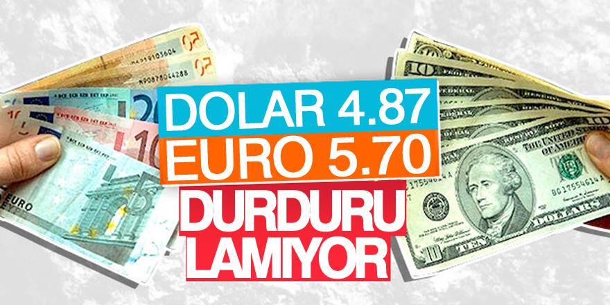 Dolar/TL, 4.87 seviyesinde