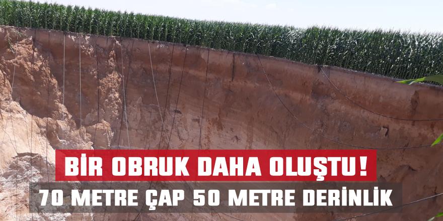 70 metre çapında yeni obruk oluştu!