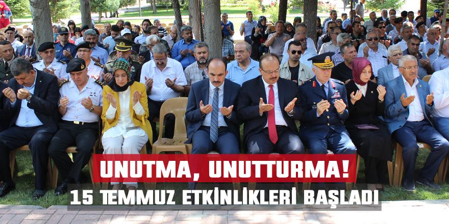 Konya'da 15 Temmuz etkinlikleri başladı