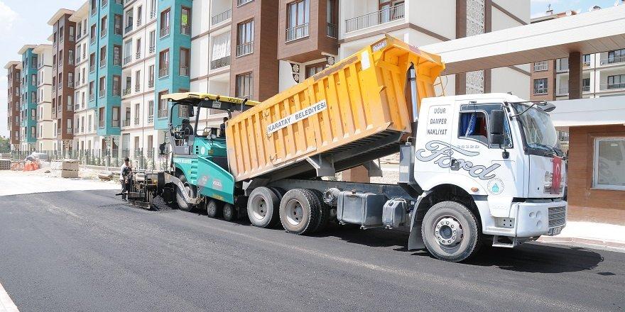 Karatay asfalt rekoru kırıyor