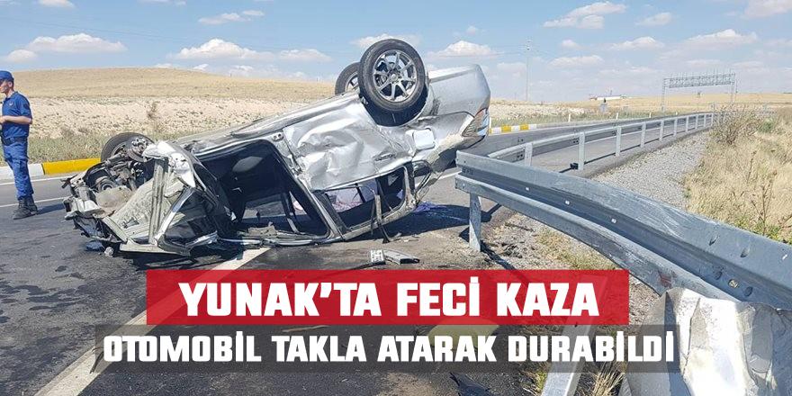 Otomobil takla attı: 1 ölü, 7 yaralı
