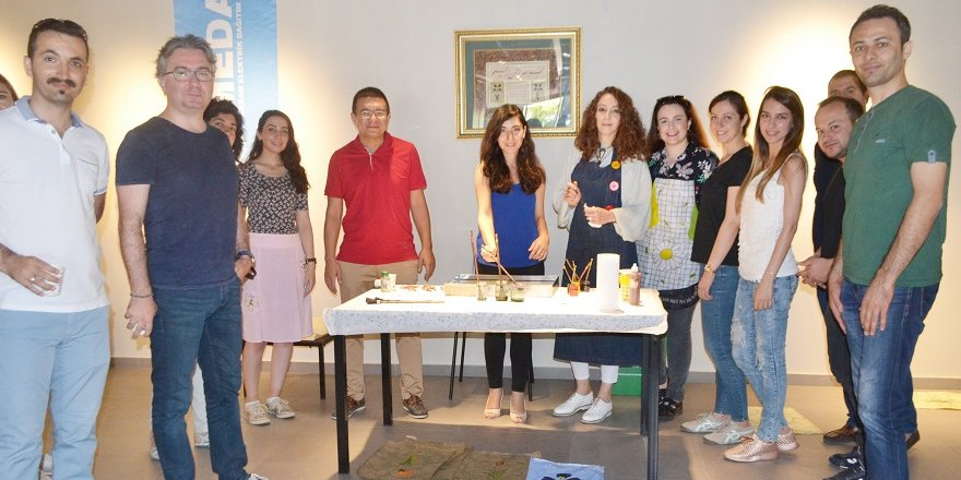 MEDAŞ'tan ebru sanatı eğitimi