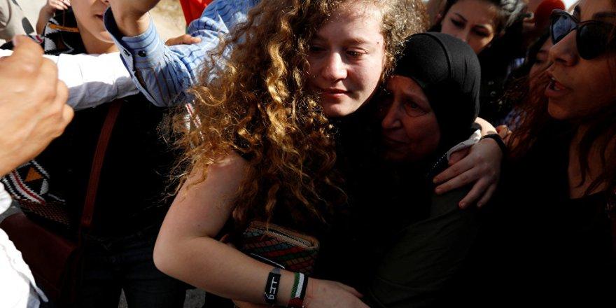 Filistin'in cesur kızı' 8 ay sonra serbest