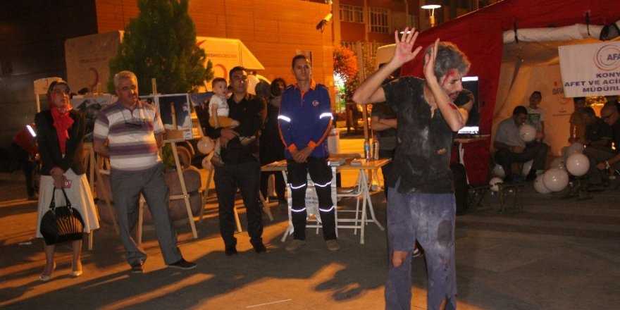 Konya'da 17 Ağustos Marmara Depremi unutulmadı