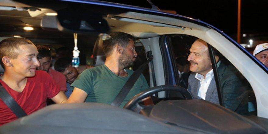 İçişleri Bakanı Soylu Konya'da trafiği denetledi