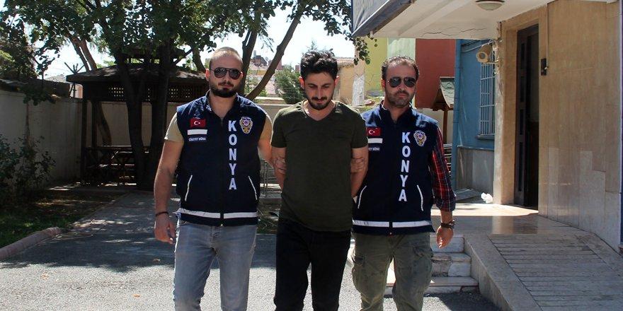 Konya'daki cinayet, güvenlik kamerasında