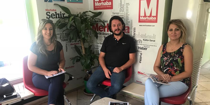 Dr. Portakal'dan Merhaba Gazetesi'ne ziyaret