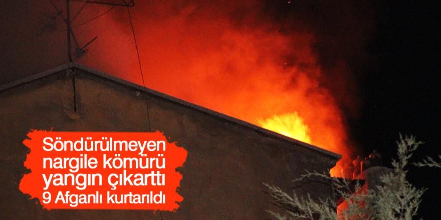Söndürülmeyen nargile kömürü yangına neden oldu