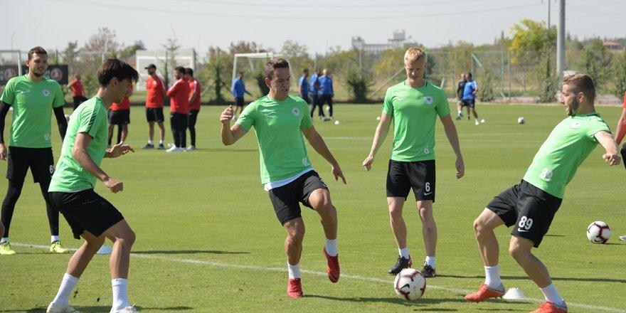 Konyaspor, Kayserispor maçı hazırlıklarını tamamladı