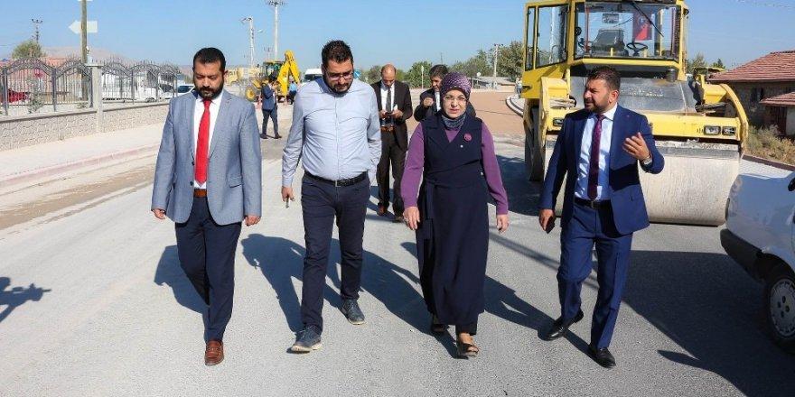 Meram Belediyesinin asfaltlama çalışmaları devam ediyor
