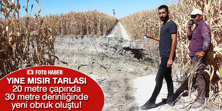 Konya'da yeni obruk oluştu