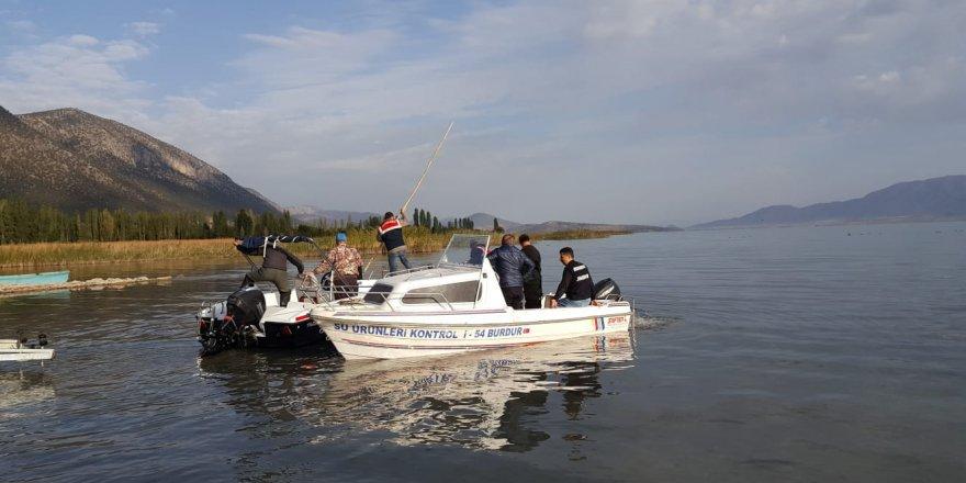 Beyşehir Gölü'nde kaçak avcılığa karşı denetim yapıldı