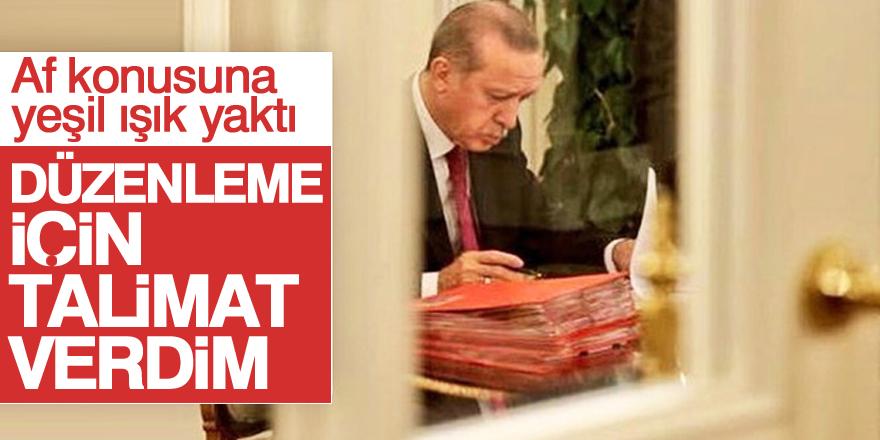 Cumhurbaşkanı Erdoğan af konusuna yeşil ışık yaktı