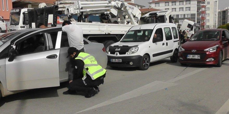 Kulu'da trafik güvenliği uygulaması yapıldı