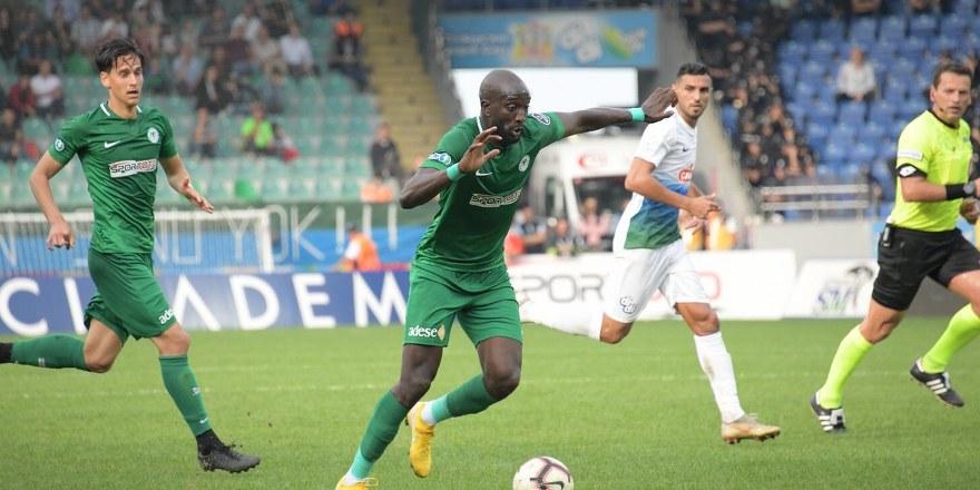 Çaykur Rizespor - Konyaspor: 1-1 (MAÇ SONUCU)