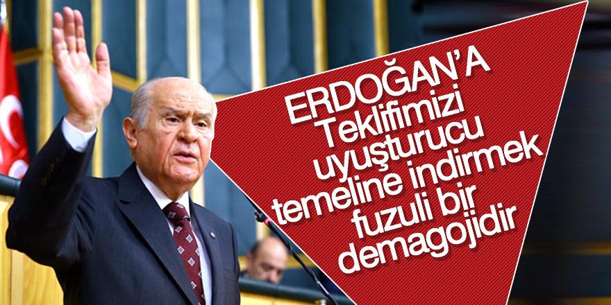 Bahçeli'den Erdoğan'ın sözlerine yanıt
