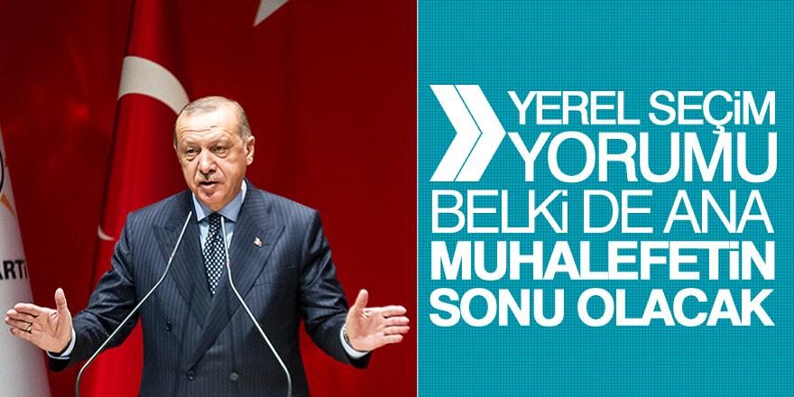 Erdoğan'dan yerel seçim yorumu