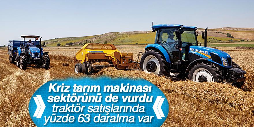 Kriz tarım makinası sektörünü de vurdu