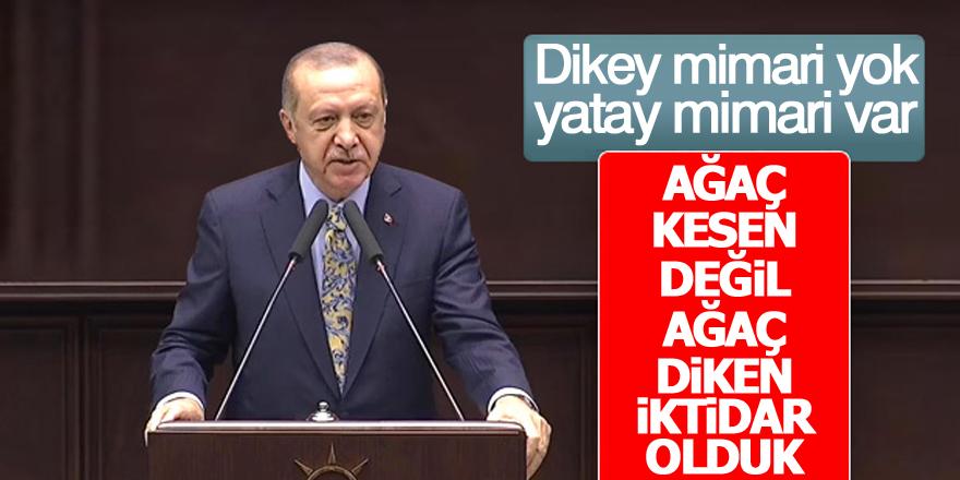 Erdoğan: Ağaç kesen değil ağaç diken iktidar olduk