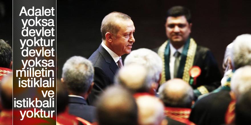 Erdoğan'dan hakim ve savcılara