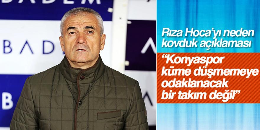 Atiker Konyaspor, neden Rıza Çalımbay ile yollarını ayırdığını açıkladı