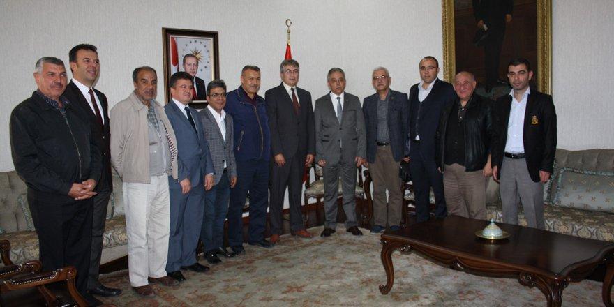 Gazeteciler Cemiyeti'nden Vali Toprak'a ziyaret