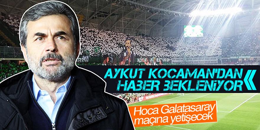 Hoca Galatasaray maçına yetişecek