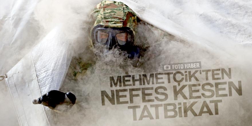 """Mehmetçik'ten """"nefes kesen"""" tatbikat"""