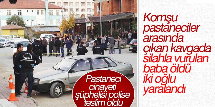 Pastaneci cinayeti şüphelisi polise teslim oldu