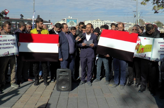 Saadetli Gençler Yemen için meydanlarda