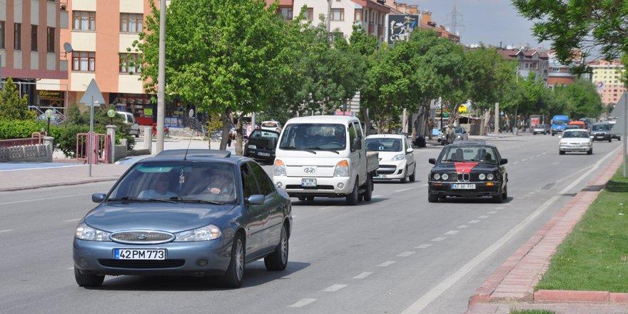 Konya'da araç sayısı 724 bin