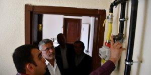 Kulu'da ilk abone doğal gazı yaktı