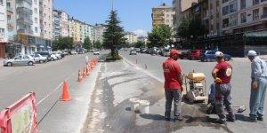 Seydişehir Dörtyol Kavşağı trafiğe kapatıldı