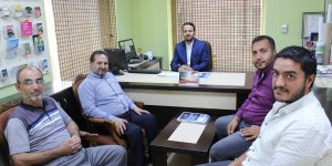 AK Partili Özdemir'den Merhaba Gazetesi'ne ziyaret