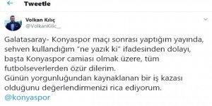 TRT muhabiri  özür diledi