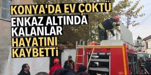Konya'da bina çöktü; 3 kişi hayatını kaybetti