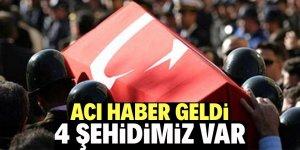 Barış Pınarı Harekâtı bölgesinden acı haber: 4 şehit!