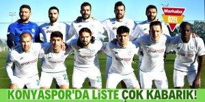 Konyaspor'da liste kabarık
