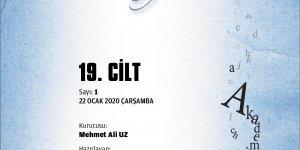 Cilt-19, Sayı-1, 22 Ocak 2020