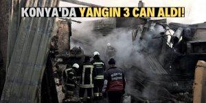 Konya'da ev yangını: 3 ölü