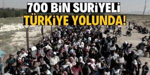 Türkiye sınırına gelen 700 bin kişi var!