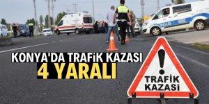 Beyşehir'de trafik kazası: 4 yaralı