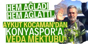 "AykutKocaman'dan Konyaspor'a ""veda"" mektubu"