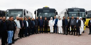 Aksaray'da toplu taşıma araçları dezenfekte edildi