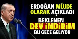 Erdoğan akaryakıt indirimini açıkladı
