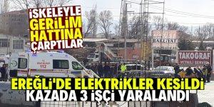 Ereğli'de korkutan iş kazası!