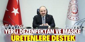 Dezenfektan-maske üretimine 6 milyon lira destek
