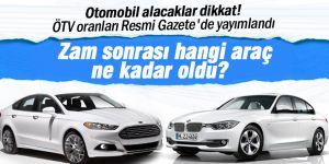 Yeni ÖTV düzenlemesiyle araçların fiyatları yükseldi