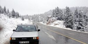 Akseki Alacabel Mevkiine Kar Yağışı