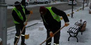 Seydişehir Belediyesi'nde karla mücadele çalışmaları